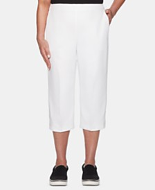 Alfred Dunner Petite Martinique Flat-Front Capri Pants