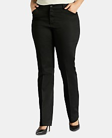 Lee Platinum Plus Size Straight-Leg Pants