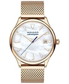 Women's Swiss Heritage Carnation Gold Ion-Plated Steel Mesh Bracelet Watch 36mm