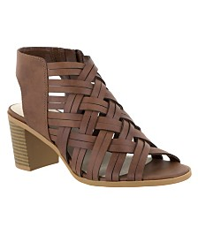 Easy Street Angel Block Heeled Sandals