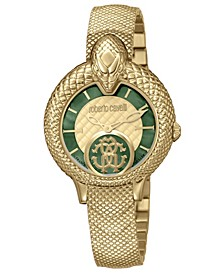By Franck Muller Women's Swiss Quartz Gold-Tone Stainless Steel Bracelet Watch, 34mm