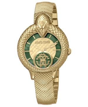 Roberto Cavalli Bracelets BY FRANCK MULLER WOMEN'S SWISS QUARTZ GOLD-TONE STAINLESS STEEL BRACELET WATCH, 34MM