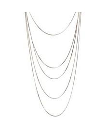 Multi-Row Cobra Chain Necklace