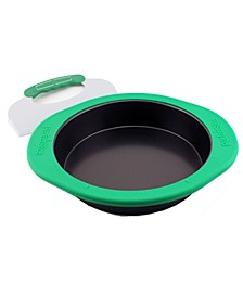 "Perfect Slice 9"" Round Cake Pan with Silicone Sleeve"
