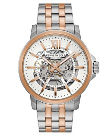 Kenneth Cole New York Men's Bracelet with Skeleton Automatic Dial, 43.5MM