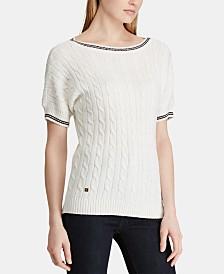 Lauren Ralph Lauren Cable-Knit Cotton Sweater