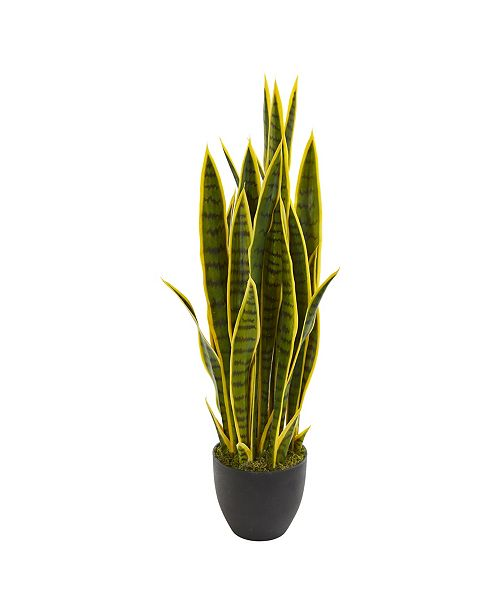 "Nearly Natural 33"" Sansevieria Artificial Plant"
