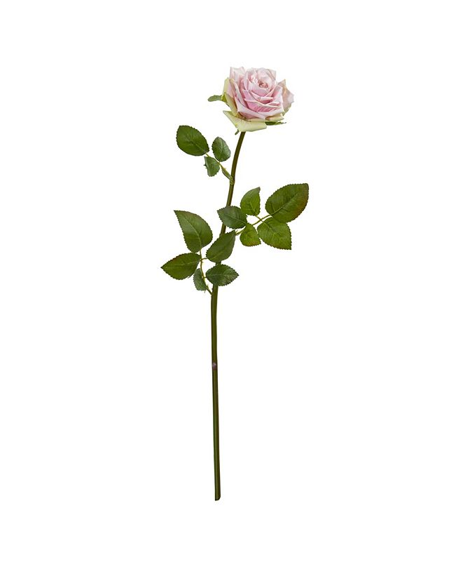 """Nearly Natural 19"""" Rose Spray Artificial Flower (Set of 12)"""