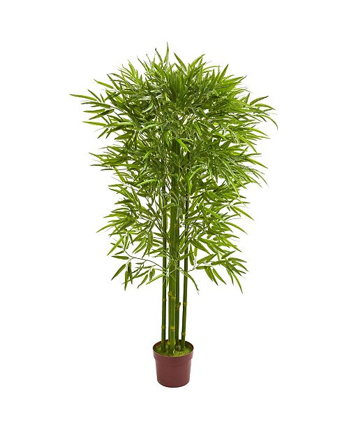 Nearly Natural 5.5' Bamboo Artificial Tree UV Resistant (Indoor/Outdoor)
