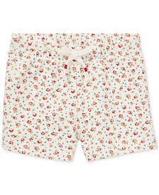 Polo Ralph Lauren Baby Girls Floral Stretch Mesh Shorts
