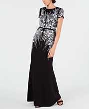 5f9e74aa352c Adrianna Papell Embellished Mesh Gown