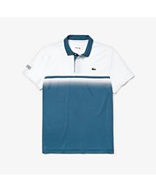 Men's Sport Ultra Dry Gradient Chest-Print Polo Shirt