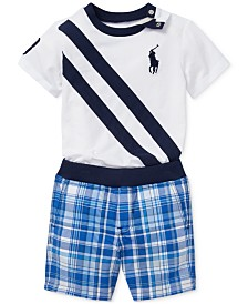 Polo Ralph Lauren Baby Boys Cotton T-Shirt & Reversible Shorts Set