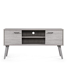Amarah Mid Century Modern Entertainment Center, Quick Ship