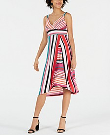 Petite Mixed-Stripe Dress