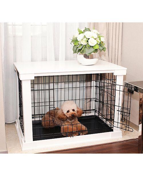 zoovilla Cage with Crate Cover, White, Medium