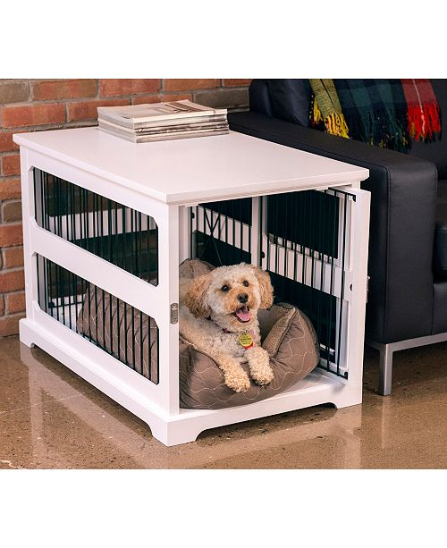 zoovilla Slide Aside Crate and End Table, White, Medium