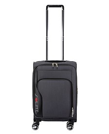 """Solite Excursionist Lightweight 22"""" Expandable Carry-On Softside Spinner Upright"""