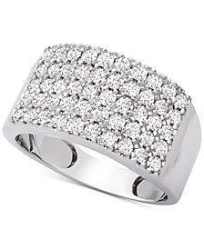 Diamond Pavé Statement Ring (1 ct. t.w.) in 14k White Gold