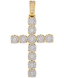 Diamond Cross Pendant (2-1/2 ct. t.w.) in 10k Gold & White Gold