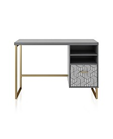 CosmoLiving by Cosmopolitan Scarlett Single Pedestal Desk