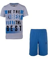 8a62c9718f6fa6 Jordan Little Boys 2-Pc. Best-Print T-Shirt   Shorts Set