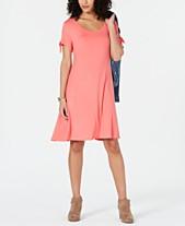 16b00167404e Style & Co Petite Tie-Sleeve Swing Dress, Created for Macy's