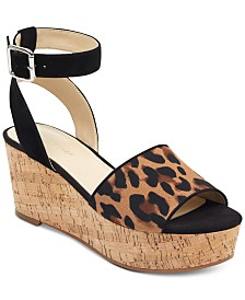 Marc Fisher Rillia Cork Flatform Sandals