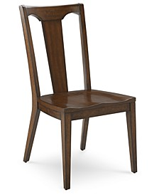 Matteo Slat Back Wood Side Chair, Created for Macy's