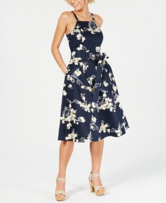Cocktail Dress with Flowers