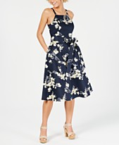 52ad46dc2bc RACHEL Rachel Roy Floral-Print Fit   Flare Dress