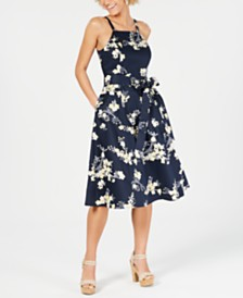 RACHEL Rachel Roy Floral-Print Fit & Flare Dress
