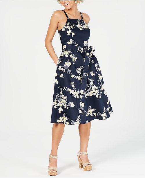 RACHEL Rachel Roy Floral-Print Fit & Flare Dress