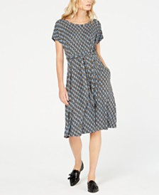Weekend Max Mara Argo Printed Belted A-Line Dress