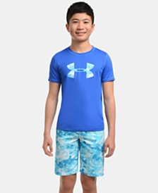 Under Armour Big Boys Marble-Print Volley Swim Trunks