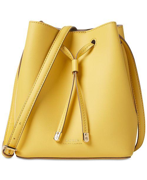 7a19ad6a18e5f9 ... Lauren Ralph Lauren Dryden Debby II Mini Leather Drawstring Bag ...