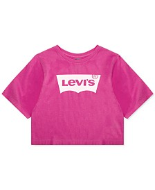 Levi's® Little Girls Neon Cropped Cotton T-Shirt