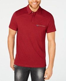 I.N.C. Men's Pintucked Pocket Polo, Created for Macy's