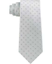 Calvin Klein Men's Classic Square Neat Silk Tie