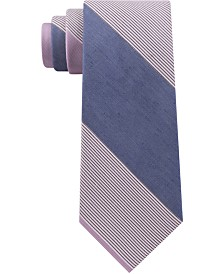 Calvin Klein Men's Classic Colorblocked Jumbo Stripe Tie