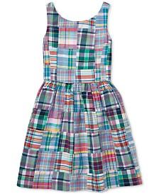 Polo Ralph Lauren Big Girls Patchwork Cotton Madras Dress