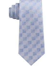 Sean John Men's Classic Linear Shadow Check Silk Tie
