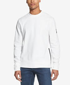 DKNY Men's Side-Zip Textured Twill T-Shirt