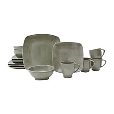 Sango Forge Taupe 16 Piece Dinnerware Set