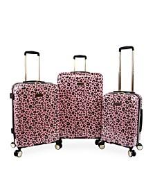 Printed 3-Pc. Hardside Luggage Set