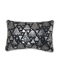 Metallic Christmas Trees Lumbar Pillow