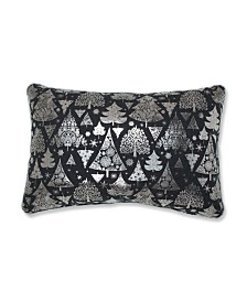 Pillow Perfect Metallic Christmas Trees Lumbar Pillow