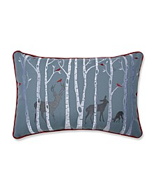 Christmas Woodland Deer Lumbar Pillow