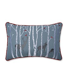 Pillow Perfect Christmas Woodland Deer Lumbar Pillow