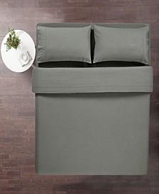 100% Cotton 4 Piece Flannel Queen Sheets Set- Deep Pocket